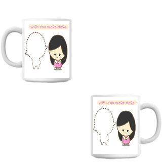Wish You Here Cute White Coffee Mug