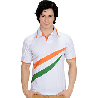 Buy bloomun multi colour polo t shirt indian flag theme for Wordpress t shirt store theme free