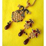 Designer Peacock Pendant Sets