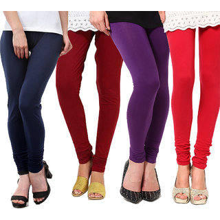 Sassily Cotton Lycra Womens Legging-Combo14-Multi-4