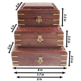 Desi Karigar Wooden Handcrafted Decorative Jewellery Storage Box Size(LxBxH-8x5x2.5)  sc 1 st  Shopclues & Buy Desi Karigar Wooden Handcrafted Decorative Jewellery Storage Box ...