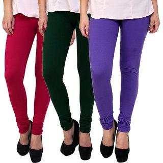 Sassily Cotton Lycra Womens Legging-Combo5-Multi-3