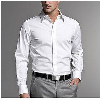 Mens Formal Shirt White Color