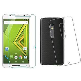 The Malabis Tempered Glass  Back Cover For Motorola Moto X Play