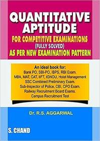 Quantitative Aptitude For Competitive Examinations (English) 7th Edition