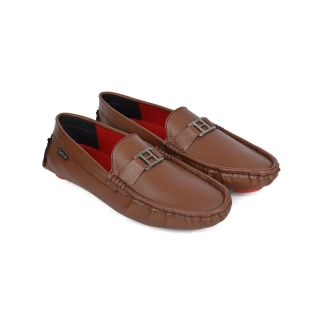 DaMochi KASON Brown/Red Mens Loafers