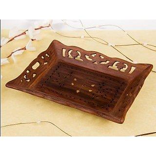 Desi Karigar Wooden Handicrafts Designed Tray Large Size(LXB-15X10) INCH