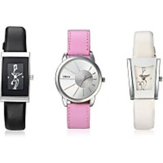 Wrist Watch With Latest design And Color for Women ( Pack of 3 )