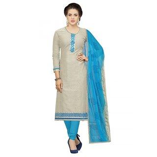 Sareemall Grey Camric Cotton Dress Material KBL82001