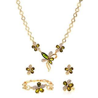 Ruhaani Jewels Alloy Jewel Set (Green)