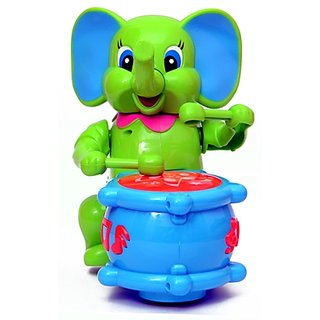Battery Operated Musical Elephant Drum