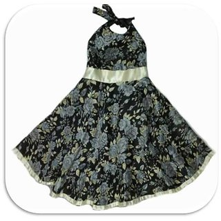 Love Bugs Black Halter Dress