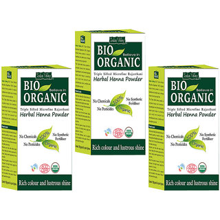 Indus valley Bio Organic Herbal Henna Powder Triple Pack
