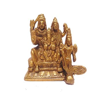 Divine Gods Lord Shivji and Family brass statue and Idol - 8.8 cms