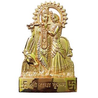 Brass Metal Handmade Radha Krishna Statue
