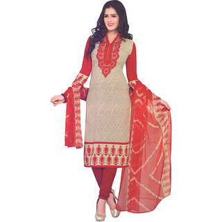 Light Wheat Colour Crepe Printed Salwar Suit