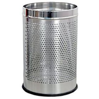 VPSK Stainless Steel Perforated Dustbin . 5 ltr . 7 x 10