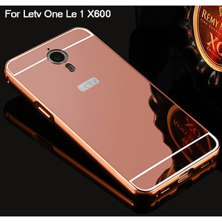 LUXURY METAL FRAME BUMPER+MIRROR BACK ROSE GOLD CASE COVER FOR LETV 1S