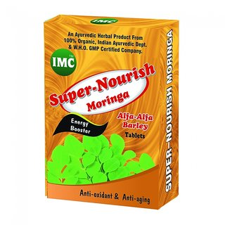 IMC Super Nourish Moringa Tablet Enriched With Alfa Alfa and Barley Powder Energy Booster