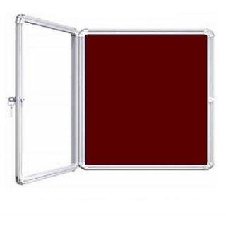 Kanico 2 x 3 feet Acrylic Door Covered Maroon Notice / Display Board