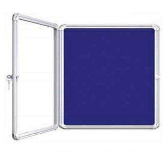 Kanico 2 x 3 feet Acrylic Door Covered Blue Notice / Display Board