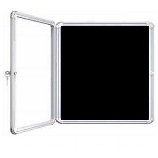 Kanico 2 x 3 feet Acrylic Door Covered Black Notice / Display Board