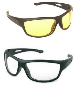 Combo day night sports sunglas (yellow white)