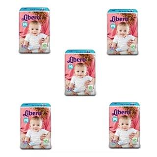 libero open diapers medium 10 pcs pACK of 5