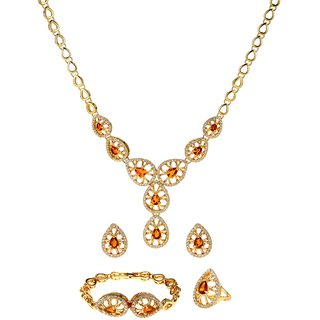 Ruhaani Jewels Alloy Jewel Set (Gold)