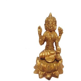 Divine Gods Lord Brahma,Vishnu and Mahesh brass statue and Idol - 8.9 cms