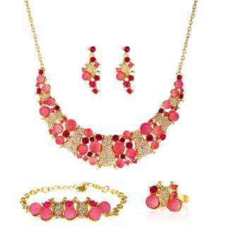 Ruhaani Jewels Alloy Jewel Set (Pink)