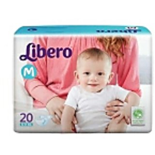 libero open diapers medium 20 pcs pACK of 1