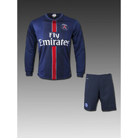 Imported Dark Blue Dry Fit PSG Club Football Fan Long Sleeves  Jersey With Shorts