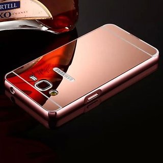 Samsung Galaxy J5 (2015) Mirror Back Cover  (Rose Gold)