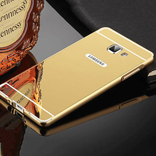 Samsung Galaxy On 7 Mirror Back Cover  (Golden)