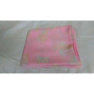 Bayasa Pink printed Georgette saree