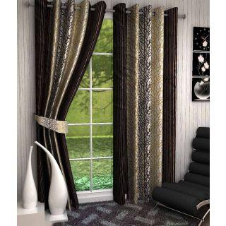 K Decor Polyester Multicolor Door Curtain(Set Of 2)
