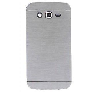Motomo Metallic Finish Hard Back Case Cover For Samsung Galaxy J7 (Silver)
