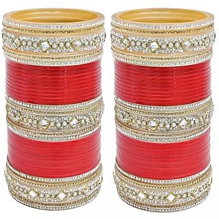 Red Bridal Punjabi Choora, Wedding Chura