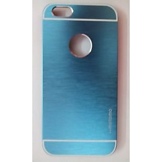 Motomo Metallic Finish Hard Back Case Cover For iPhone 6G (Light Blue)