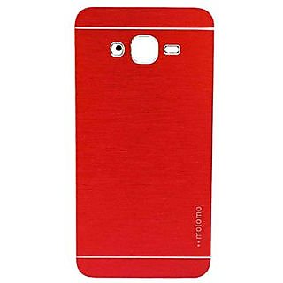 Motomo Metallic Finish Hard Back Case Cover For Samsung Galaxy J7 (Red)