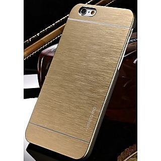 Motomo Metallic Finish Hard Back Case Cover For iPhone 6G Plus  (Golden)