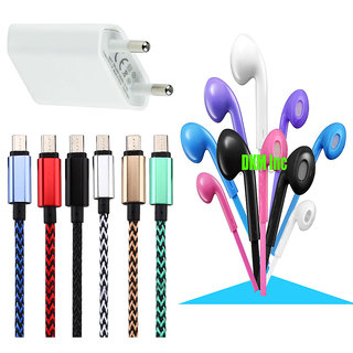 High Speed USB Charger for Samsung Galaxy Note 7 with Noise Cancellation Earphones with Mic