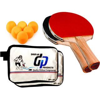 DHUPAR TOP TABLE TENNIS BAT (SET OF 2) WITH BALLS: Buy DHUPAR TOP ...