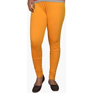 Girls Lycra Cotton Lagging - Mustard Yellow