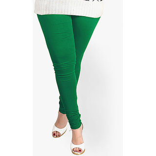 Girls Lycra Cotton Lagging - Dark Green