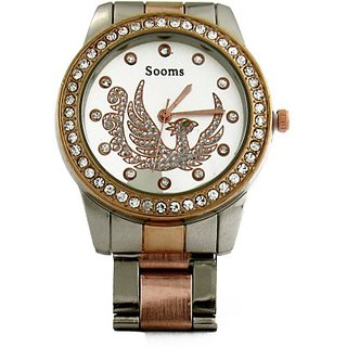 Sooms Silver  Peach Analog Watch For Woman
