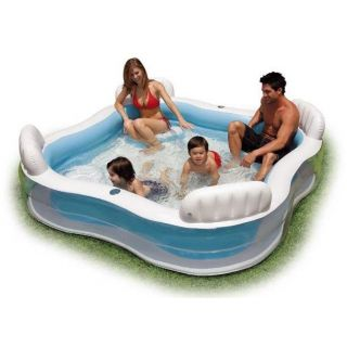 INTEX Inflatable Swimming Pool 229 x 229 x 66 cm#56475 with Air Pump