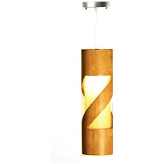 Bamboo Ceiling Lamp Spiral Natural