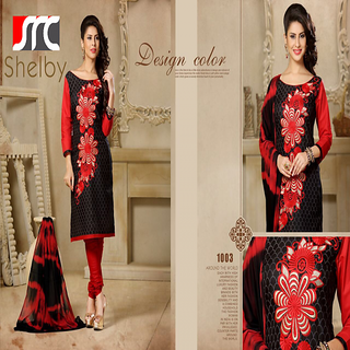 Vastra Present Womens Cotton Dress Material (Unstitched)